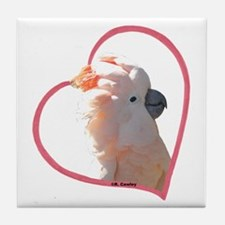 M Cockatoo Heart Line Tile Coaster