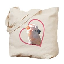 M Cockatoo Heart Line Tote Bag