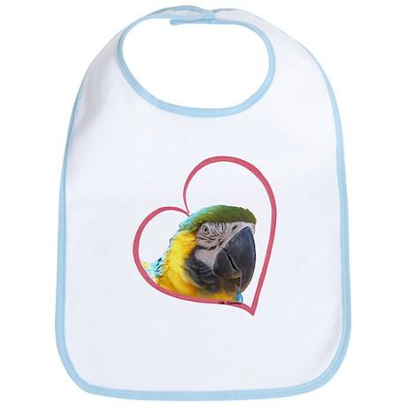 BG Macaw Heartline Bib