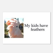 My kids have feathers Postcards (Package of 8)