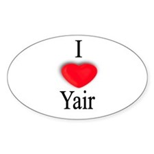 Yair Oval Decal
