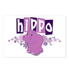 Cool Purple hippo Postcards (Package of 8)