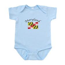 Maryland State Flag Infant Bodysuit