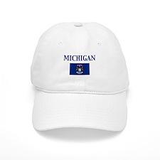 Michigan State Flag Baseball Cap