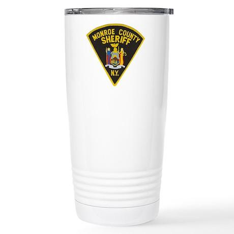 Monroe County Sheriff Stainless Steel Travel Mug