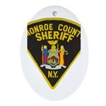Monroe County Sheriff Oval Ornament