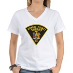Monroe County Sheriff Women's V-Neck T-Shirt