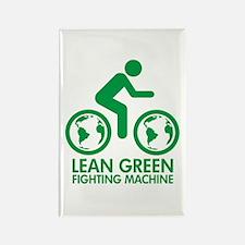 Lean Green Bike Machine Rectangle Magnet