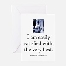 Easily satisfied Greeting Cards (Pk of 20)