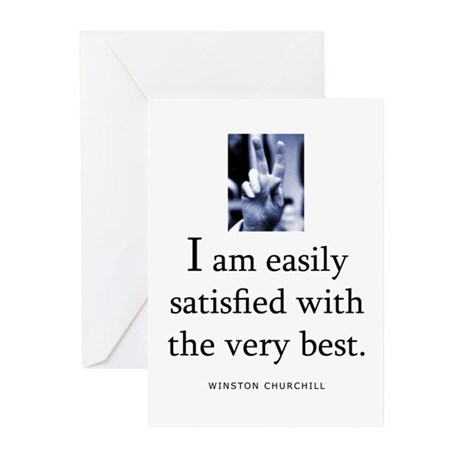 Easily satisfied Greeting Cards (Pk of 10)