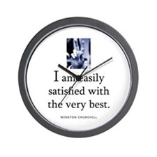 Easily satisfied Wall Clock