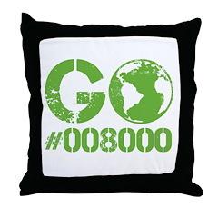 Green RGB Web Design Throw Pillow