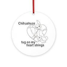 Chihuahua tug Ornament (Round)