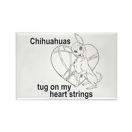 Chihuahua tug Rectangle Magnet