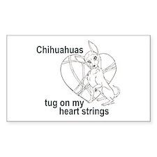 Chihuahua tug Rectangle Decal