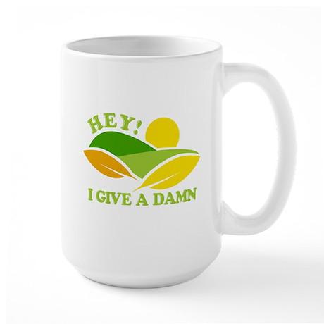 I Give A Damn Green Large Mug