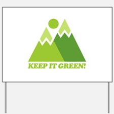 Keep It Green Recycle Yard Sign