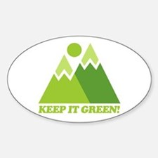 Keep It Green Recycle Oval Decal