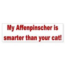 Affenpinscher Smarter Than Cat Bumper Bumper Sticker