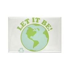 Let It Be Green Recycle Rectangle Magnet (10 pack)