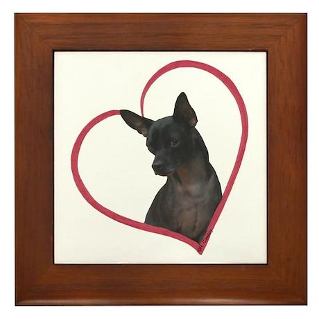 Blk Chi Heart Framed Tile