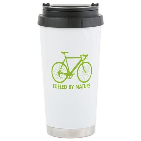 Bike Bicycle Green Stainless Steel Travel Mug
