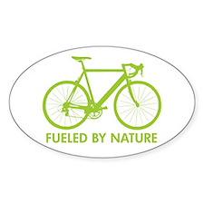Bike Bicycle Green Oval Decal