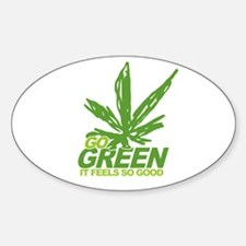THC Green Weed Oval Decal
