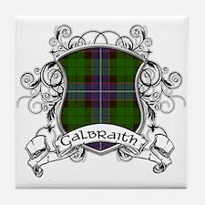 Galbraith Tartan Shield Tile Coaster