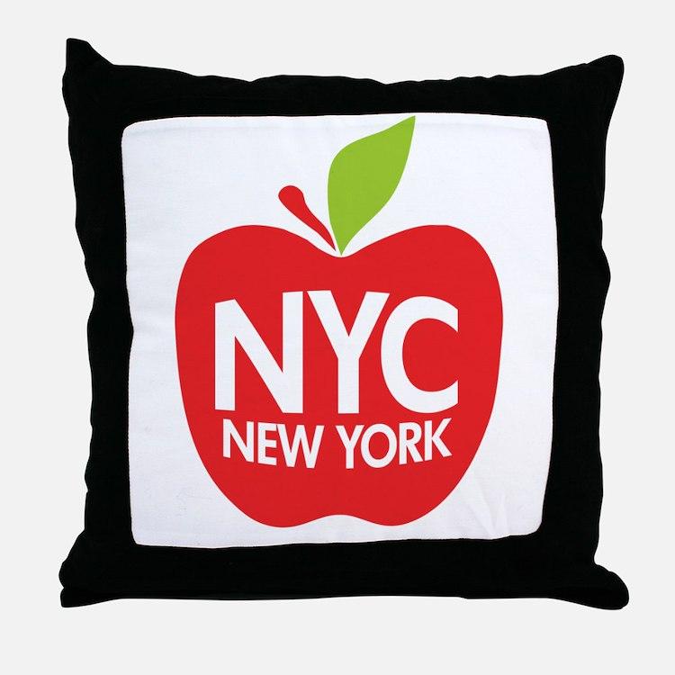 Big Apple Green NYC Throw Pillow