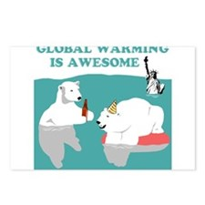 Global Warming Awesome Postcards (Package of 8)