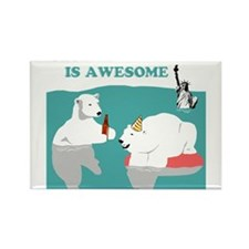 Global Warming Awesome Rectangle Magnet
