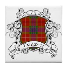 Fraser Tartan Shield Tile Coaster