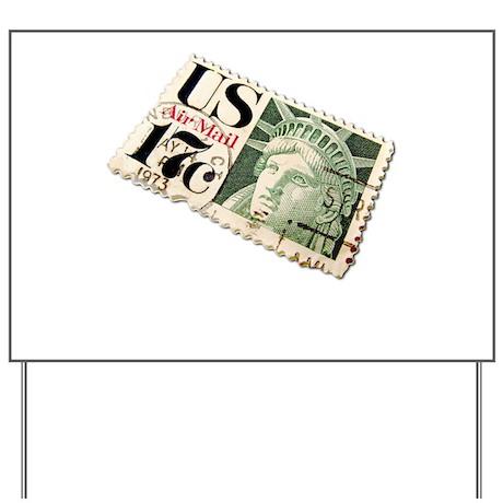 US Postage Stamp Yard Sign