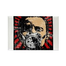 Gas Mask Banksy Style Rectangle Magnet