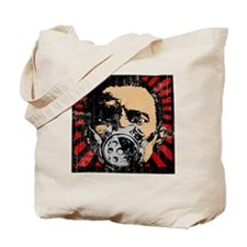 Gas Mask Banksy Style Tote Bag