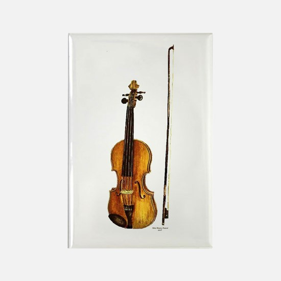 Fiddle Rectangle Magnet