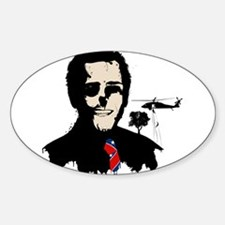 President Banksy Style Oval Decal