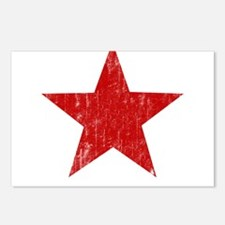 Punk Star Red Postcards (Package of 8)