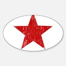 Punk Star Red Oval Decal