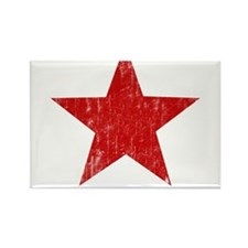 Punk Star Red Rectangle Magnet (100 pack)