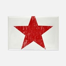 Punk Star Red Rectangle Magnet