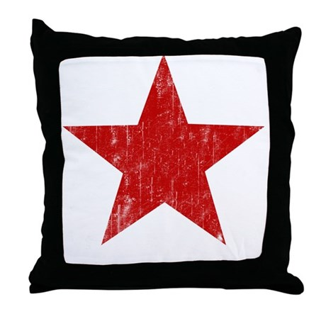 Punk Star Red Throw Pillow
