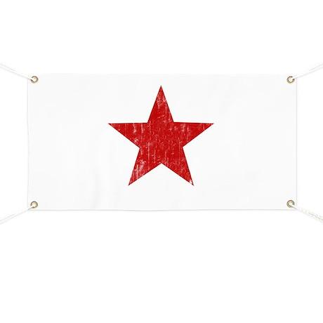 Punk Star Red Banner