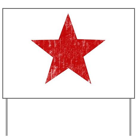 Punk Star Red Yard Sign