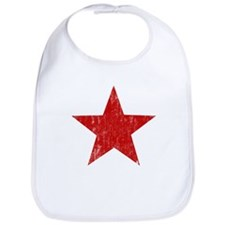 Punk Star Red Bib