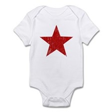 Punk Star Red Infant Bodysuit