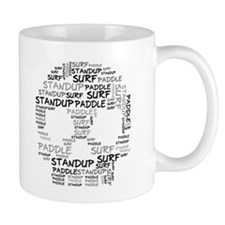 Black Wordup Standup Small Mug