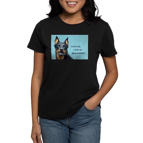 Love Me, Love My Beauceron, d Women's Dark T-Shirt