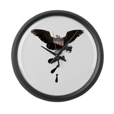 Banksy Style Drop Bomb Large Wall Clock